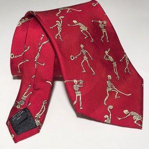 👻 Anatomical Chart Co. skeleton tie. Silk.